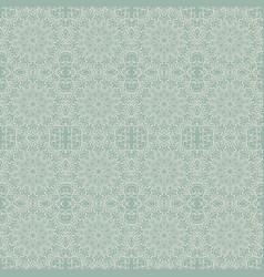 seamless pattern with green mandala vector image