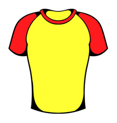 sport shirt icon icon cartoon vector image vector image