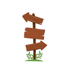 wood arrow sign old wooden road sign standing on vector image
