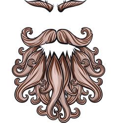 beard mustache and eyebrows vector image