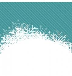 Christmas snowflake illustration vector image