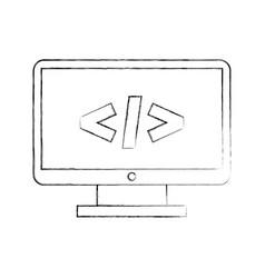 computer desktop with progamming language vector image