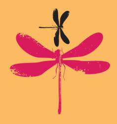 dragonfly grunge vector image vector image