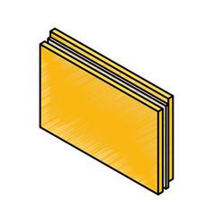 Folder document isometric icon vector