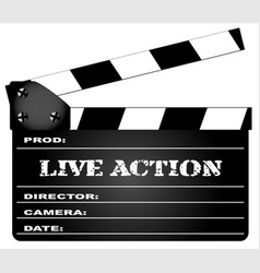 live action clapperboard vector image vector image