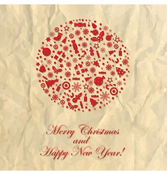 Merry Christmas Crushed Paper vector image vector image