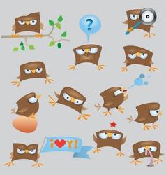 sparrows vector image