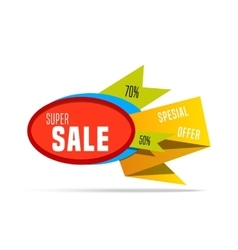 Super Sale shining banner on colorful background vector image