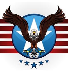 american bald eagle vector image vector image