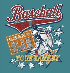 baseball Grandslam vector image vector image