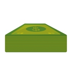 bills dollars money isolated icon vector image vector image