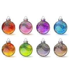 christmas glass balls vector image