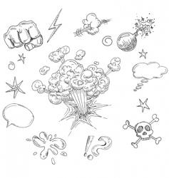 comic elements vector image vector image