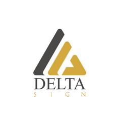 delta sign logo vector image vector image