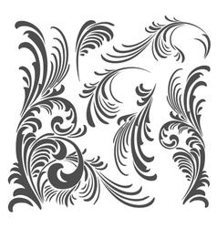 floral ornament elements pack vector image