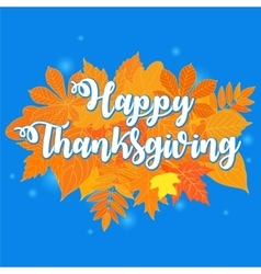 Happy Thanksgiving Day 6 vector image vector image