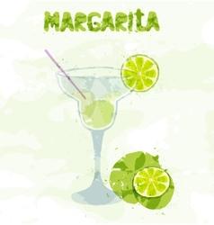 Margarita cocktail vector image