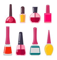 set of different nail polish vector image