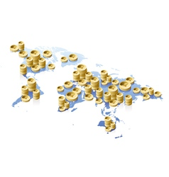 World map and money concept vector image