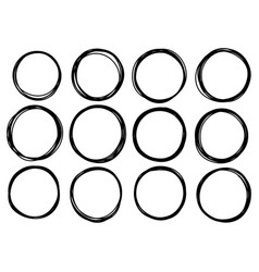 0016 hand drawn scribble circle vector