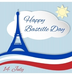14th July Bastille Day vector image
