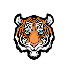 A tiger head vector