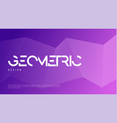 Abstract gradient geometric design colorful vector