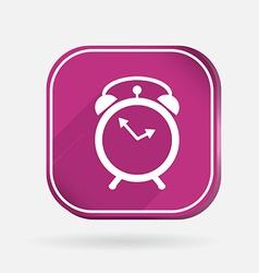 alarm clock Color square icon vector image