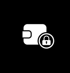 assets protection icon flat design vector image