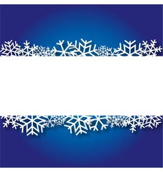 Blue Christmas background with paper snowflakes vector image
