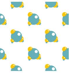 Blue molecule pattern flat vector