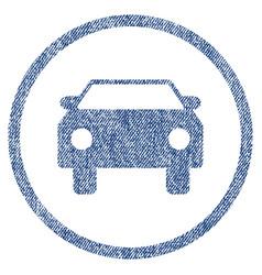Car fabric textured icon vector