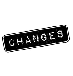 Changes rubber stamp vector image