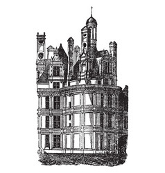 chateau chambord one most recognizable vector image
