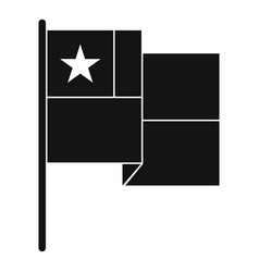 chile flag icon simple style vector image