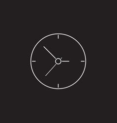clock icon time arrow graphics vector image