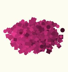 conceptual background ellipse square box pattern vector image