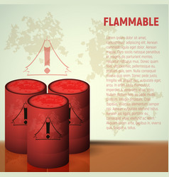 Container flammable liquid red canister vector