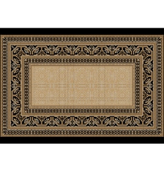 Design carpet with ethnic ornament vector image vector image
