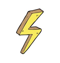 digitally drawn lightning design hand drawing vector image