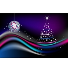 Disco new year celebration vector