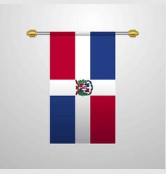 Dominican republic hanging flag vector