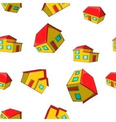 Dwelling pattern cartoon style vector