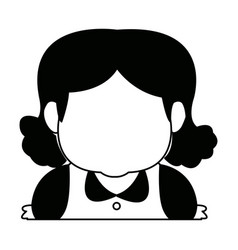 Female grandmother head character avatar vector