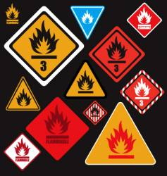 flammable signs vector image