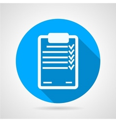 Flat icon for clipboard vector image