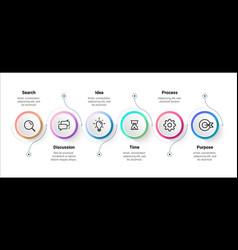 Flow infographic step timeline diagram workflow vector