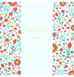 Flowers text placeholder both sides vector