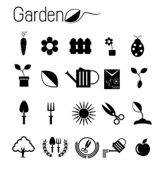 Gardening icon vector