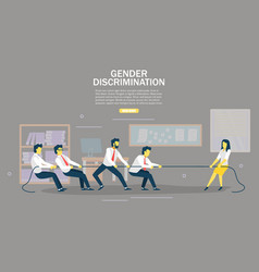 gender discrimination web banner design vector image